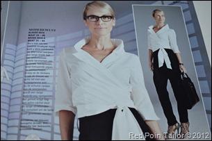 Burda Classic's white blouse