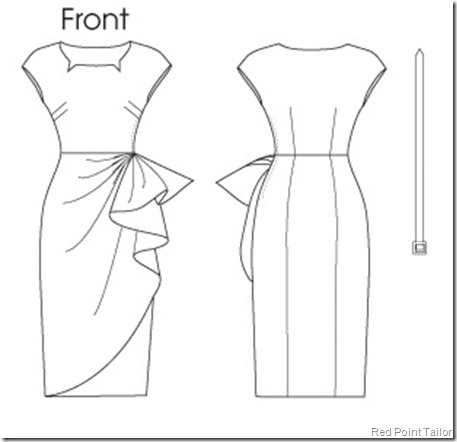 ButtericB5880 Retro Dress Pattern Spring collection 2013