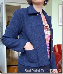 exclusive handmade by Red Point Tailor jacket Simplicity 4991 boiled wool www.redpointtailor.com