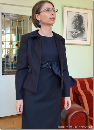 dark blue jacket and dress www.redpointtailor.com Red Point Tailor