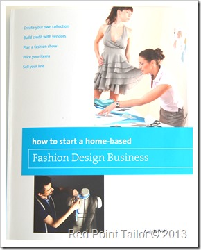 Starting sewing business–read this book www.redpointtailor.com