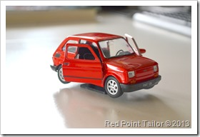 Fiat 126p, little red car