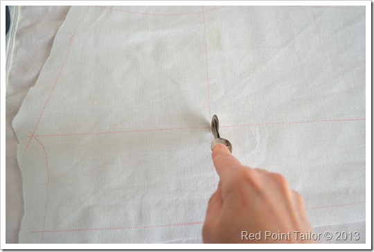 Mans's jacket Burda 8135 - tracing pattern on Burda wax paper
