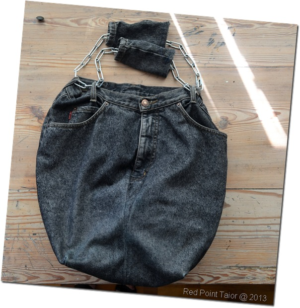 Bag by Wiktoria upcycling project - old jeans