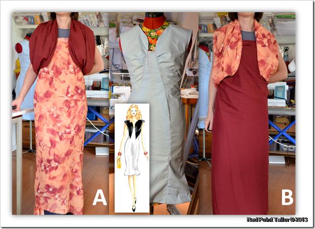 Marf y Dress 3096, Colour combination, Marfy pattern, dress, muslin