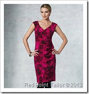 V1192 dress with drape front