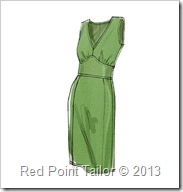 V8727 - simple dress