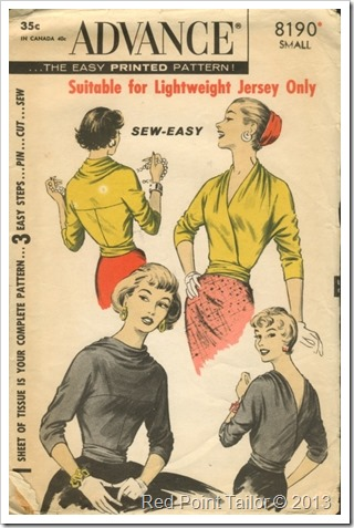 Advance vintage pattern sew easy top 8190