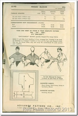vintage pattern Advance 8190