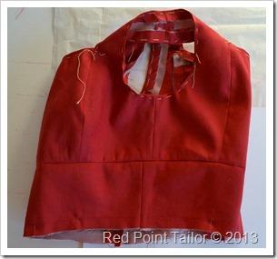 The red summer dress–wearable muslin