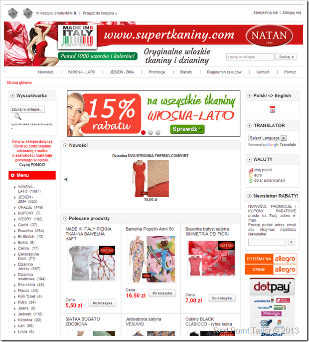 SuperTkaniny webshop with fabulous fabrics!