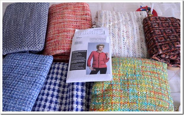 Fabrics for Chanel-like jacket based on V8804 the Little French Jacket sew-along.
