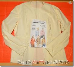 Making of a little French jacket ...based on V7975