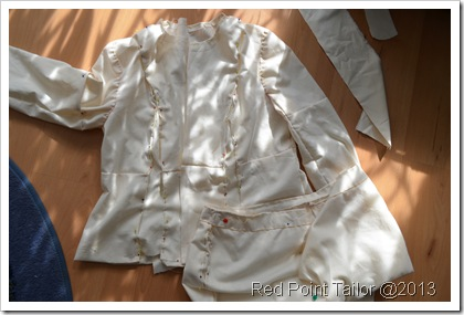 Making of a little French jacket ...based on V7975