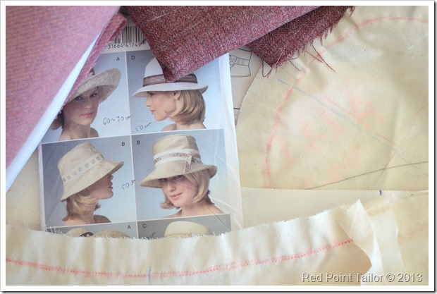 Making a hat the Vogue pattern V8405