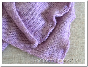 Lavender shawl with crochet edges