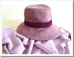 Hat Vogue 8405 muslin wool bland - and shawl