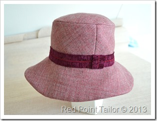 Hat Vogue 8405 muslin wool bland - left