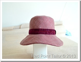 Hat Vogue8405 muslin wool bland - front