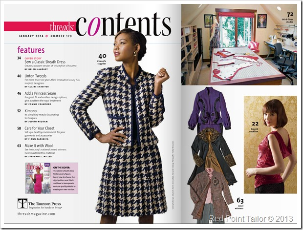 the newest issue of the Threads Magazine - Linton Tweeds Chanel Jakcet