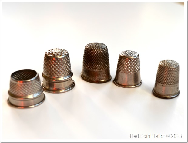 thimbles sewing supplies