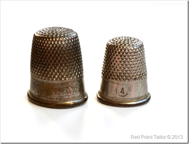 vintage thimble sewing supplies