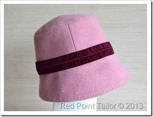 Modest hat made of wool bland made-to-order bespoke couture by Red Point Tailor
