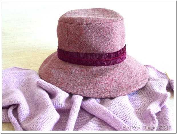 Fashionabla hat for sale Red Point Tailor wool bland