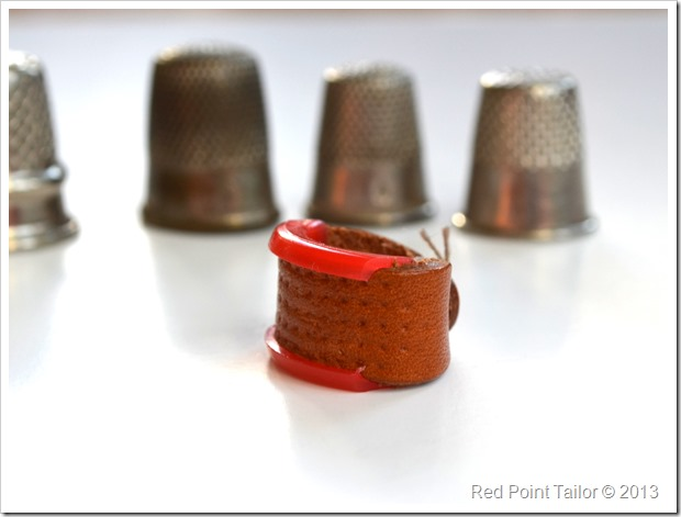 leather thimble sewing supplies