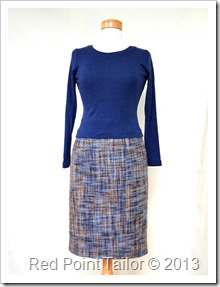 Top and skirt - Red Point Tailor Couture - bespoke couture, make-to-order, make-to-measure