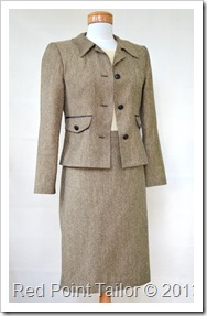 Jacket, skirt and top - Red Point Tailor Couture - bespoke couture, make-to-order, make-to-measure