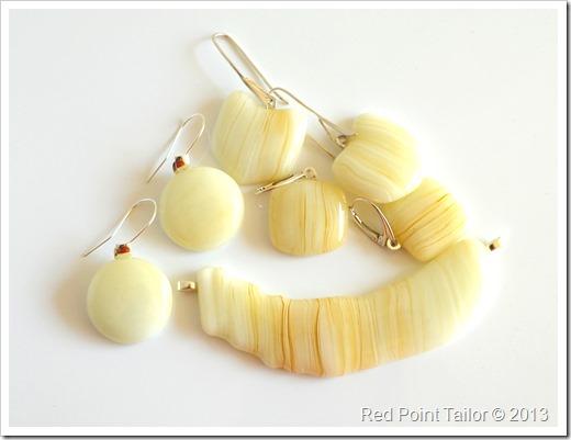 Glass earrings, necklasses, pendants -  unique, modest, elegant