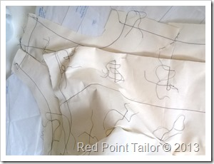 working on coat based on Mary pattern 3177 making muslin