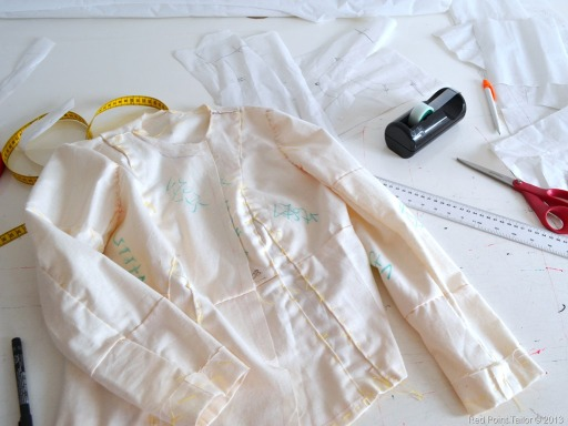 French jacket nased on Vogue 7975 pattern - muslin for my mother