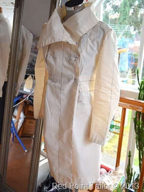 Coat Marfy 3177 muslin - couture by Red Point Tailor