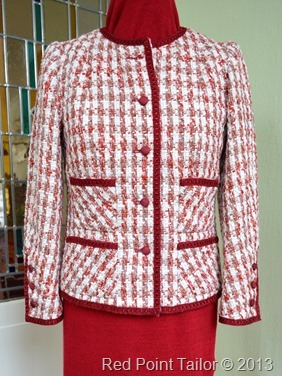 French Jacket V8804 - couture jacket - couture by Red Point Tailor