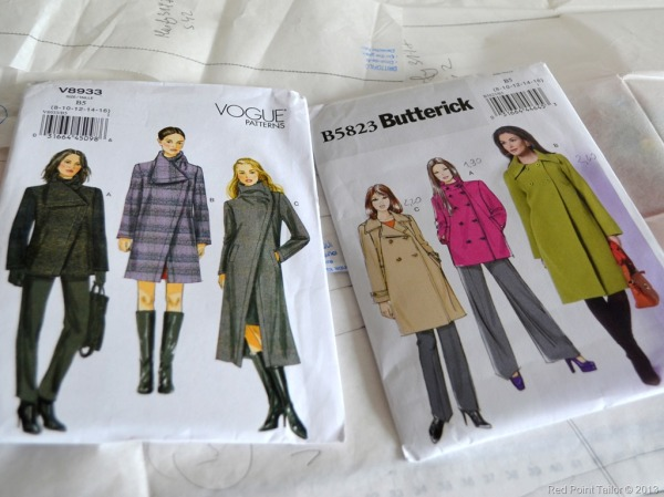 Vogue Pattern, V8933, Butterick Pattern, B5823, coat, coat pattern, couture