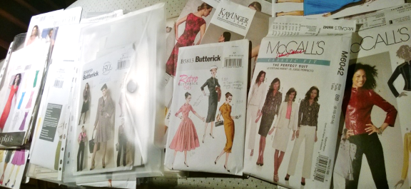 Choosing patterns to work on muslins Vogue, Butterick, McCall's