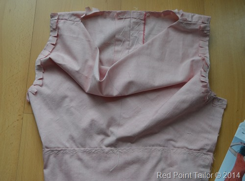 Naking muslin for classic dress silk charmeuse and wool