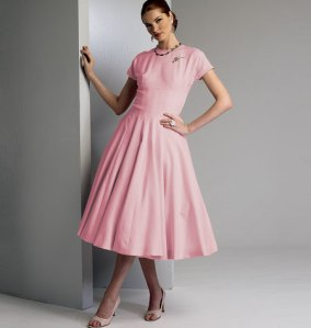 V8999_dress_vintage Vogue Patterns Summer 2014 collection