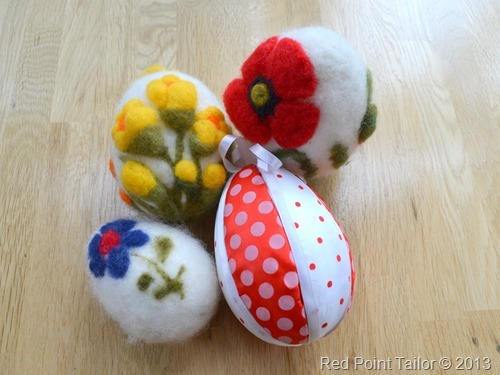 Beautiful Easter eggs – handmade by my nieces Magda and Monika and Magda's daughter – Maja (this small one).