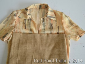 Wrap top and linen blad for skirt, dress - Red Point Tailor courure atelier