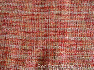 Tweed for Couture French jacket Red Point Tailor Couture Atelier