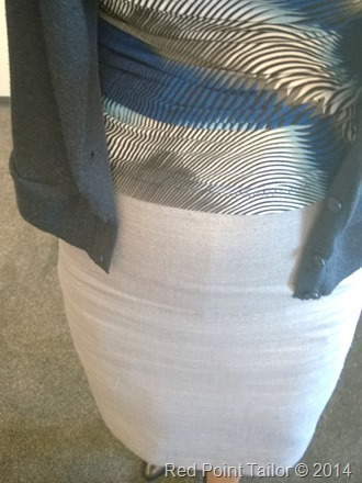 gray silk pencil skirt made by Red Point Tailor - couture atelier - perfect fit - wardrobe essencials
