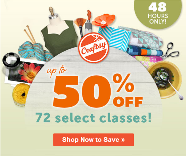 Craftsy Flash Sale 48 Hours