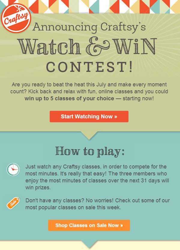 Craftsy Watch & Win Contest!