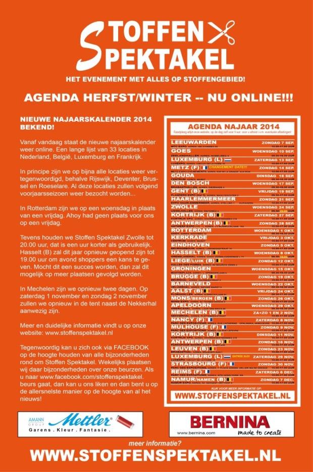 Stoffenspektakel Fall 2014 Agenda