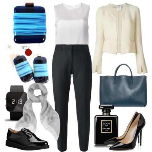 corproate look, corporate jewelry, jewelry set, glass jewelry