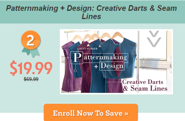 Patternmaking + Design: Create Darts & Seam Lines Craftsy class