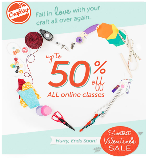 Craftsy Valentine Sale